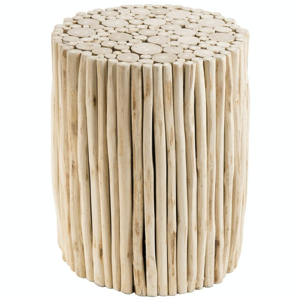 table d'appoint rondin bois