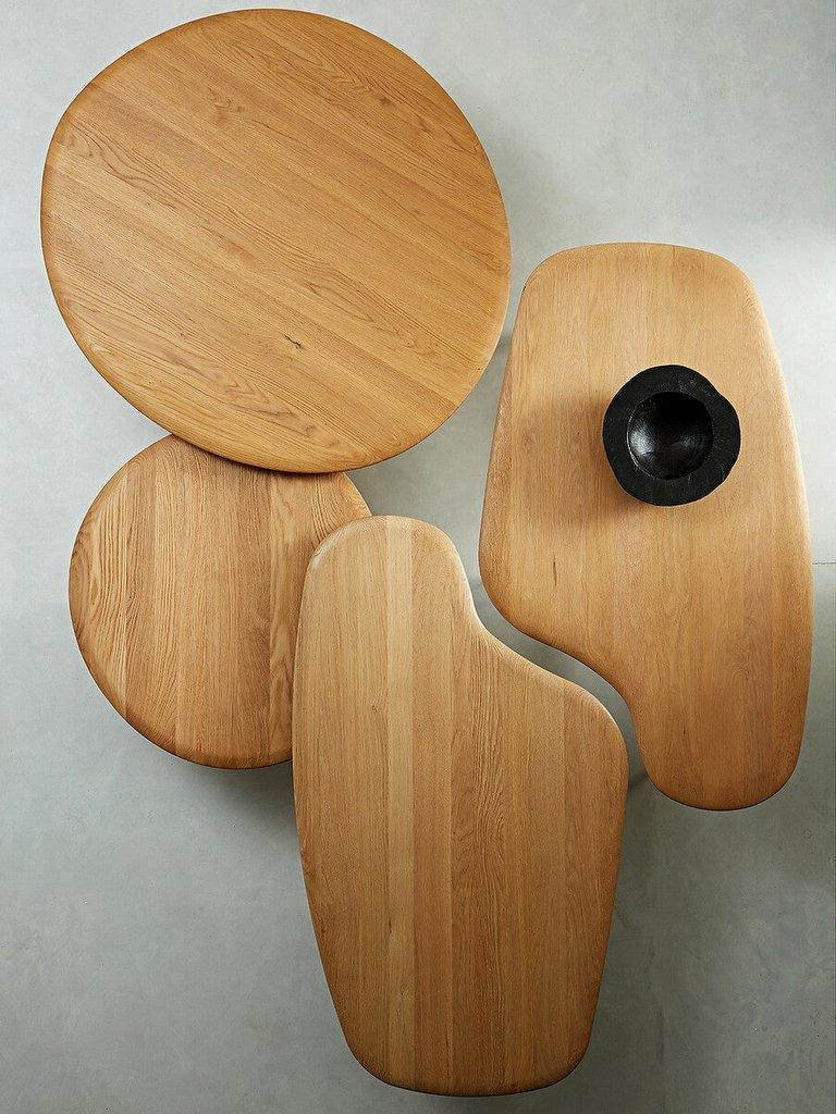 table basse en bois forme organique