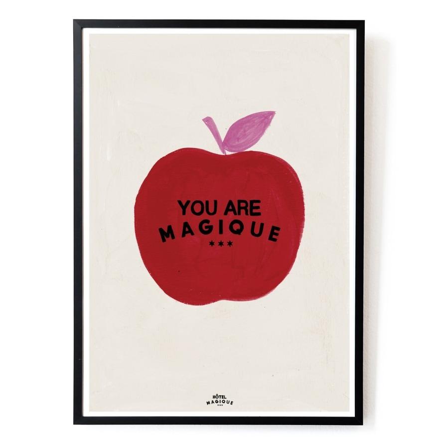 affiche pomme rouge