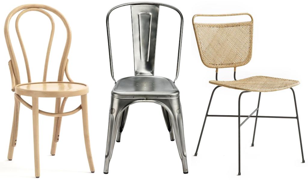chaises dépareillées design
