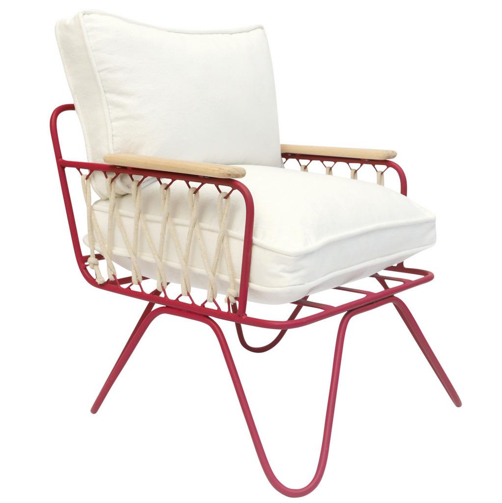 fauteuil enfant rouge et blanc