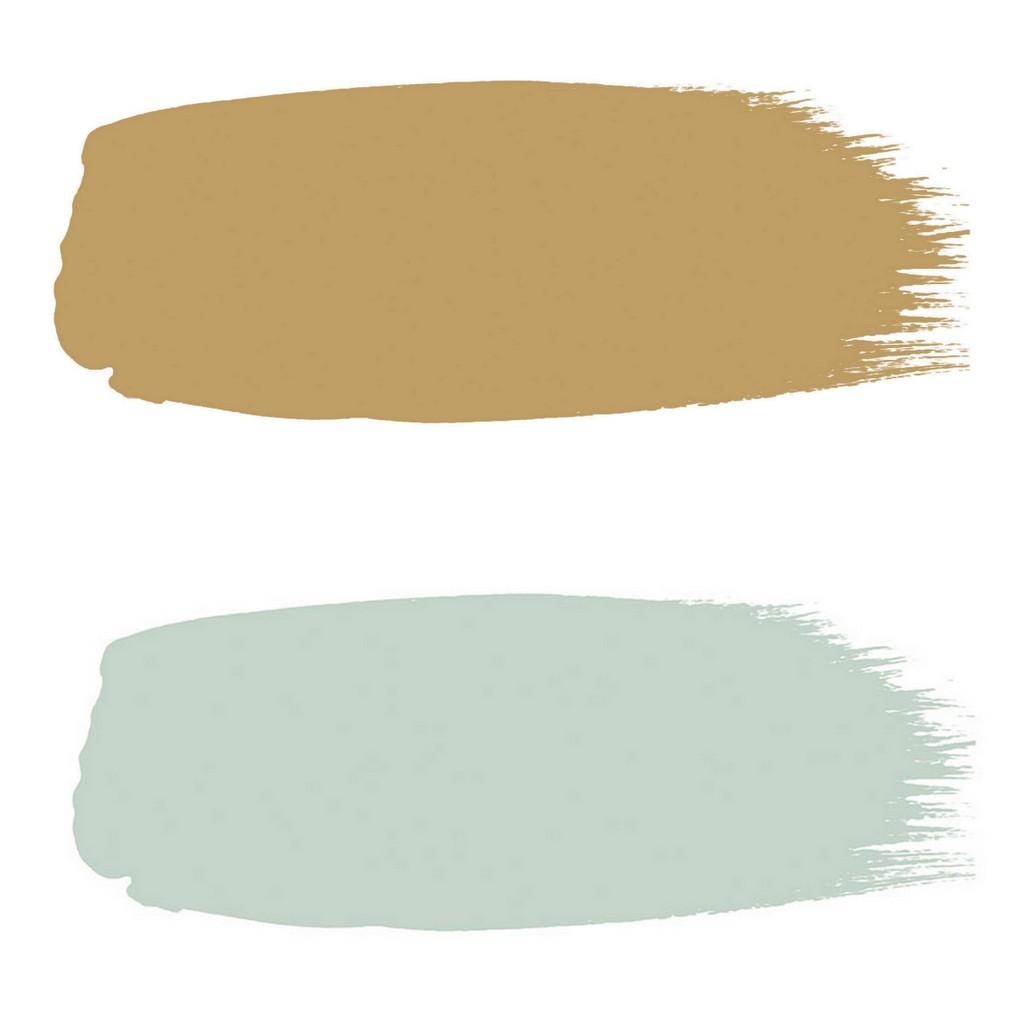 peinture vert d'eau et ocre