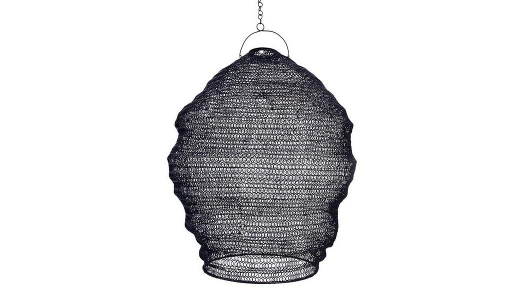 suspension en fil métal noir