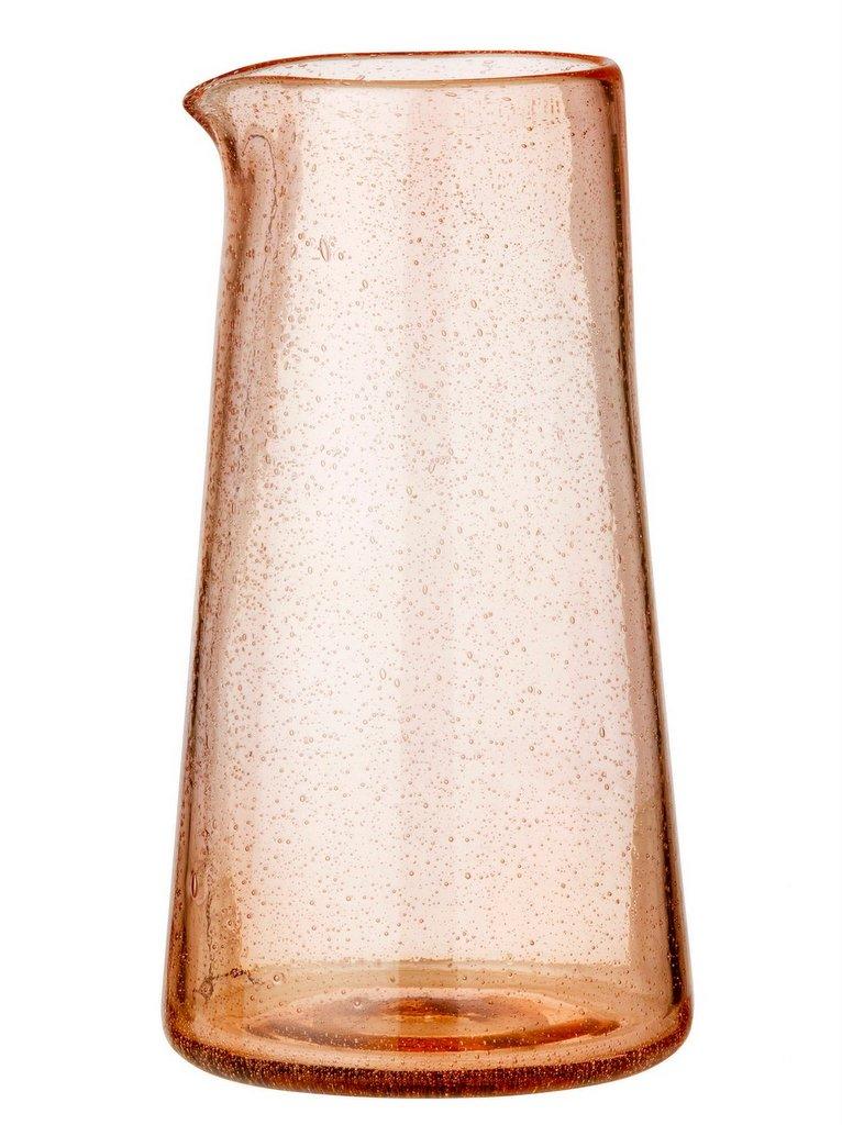 pichet verre bullé terracotta