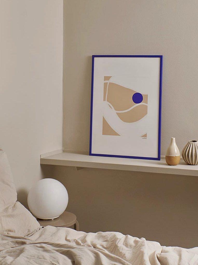 déco bleu et beige