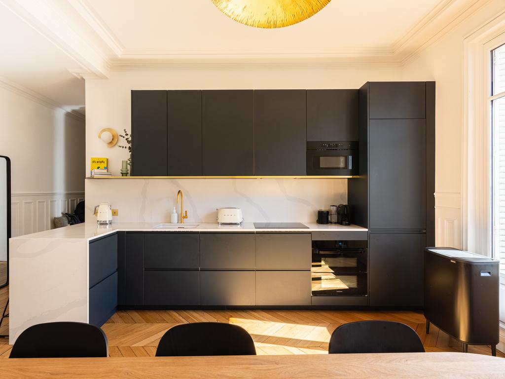 cuisine ouverte appartement haussmannien