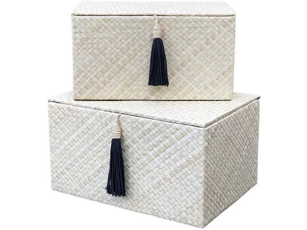 boîtes de rangement en fibres