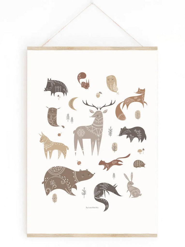 Affiche animaux de la forêt