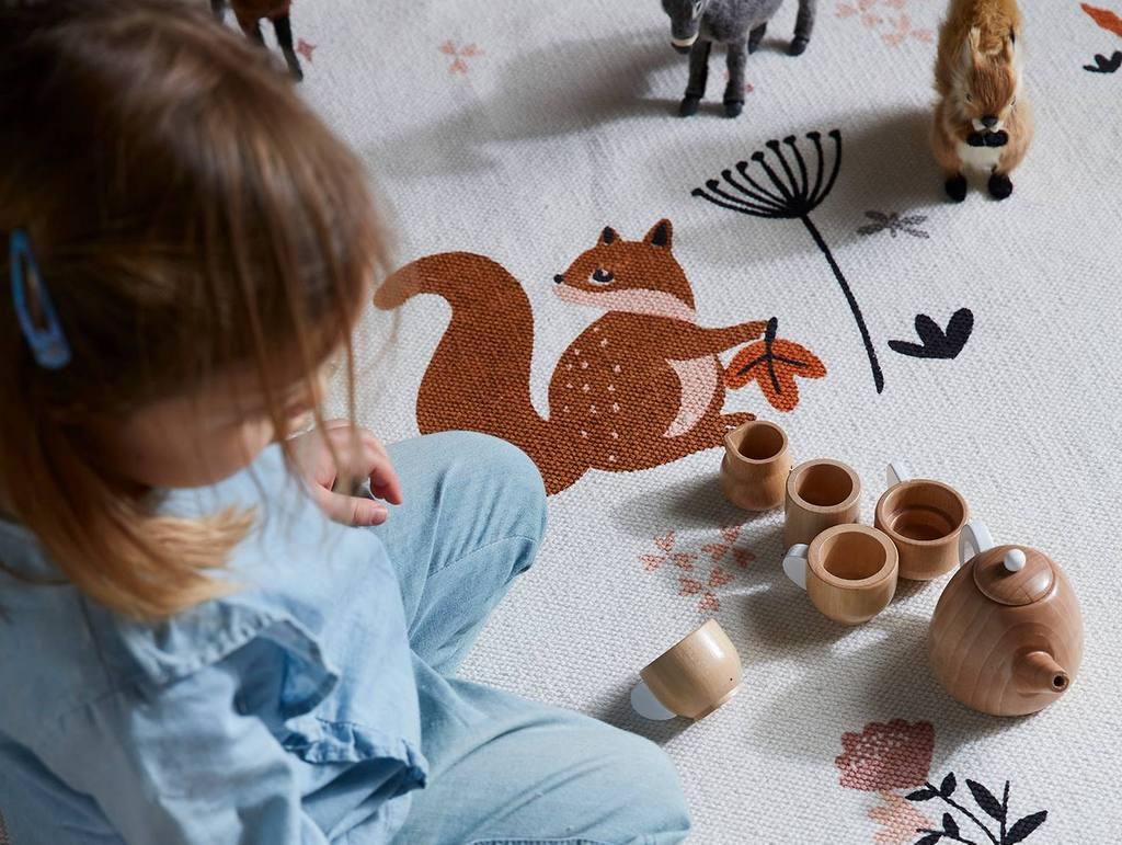 décoration chambre animaux de la forêt