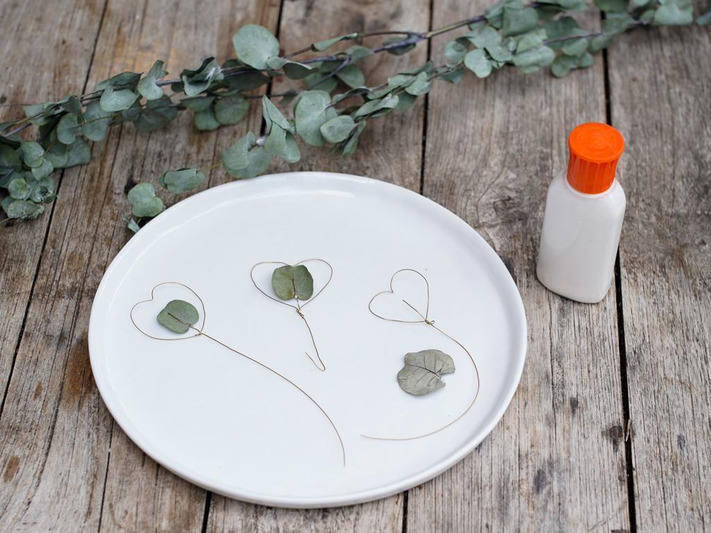DIY rond de serviette eucalyptus