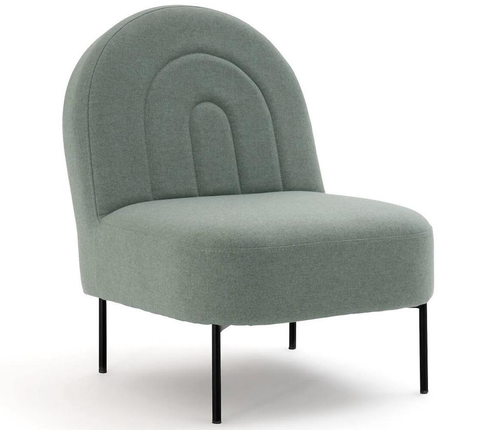 fauteuil art déco vert d'eau