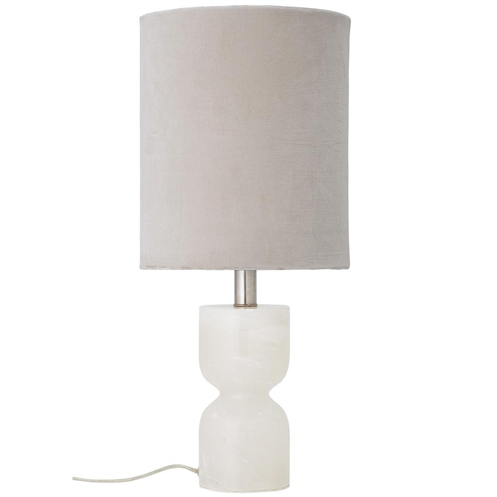 lampe blanche et beige