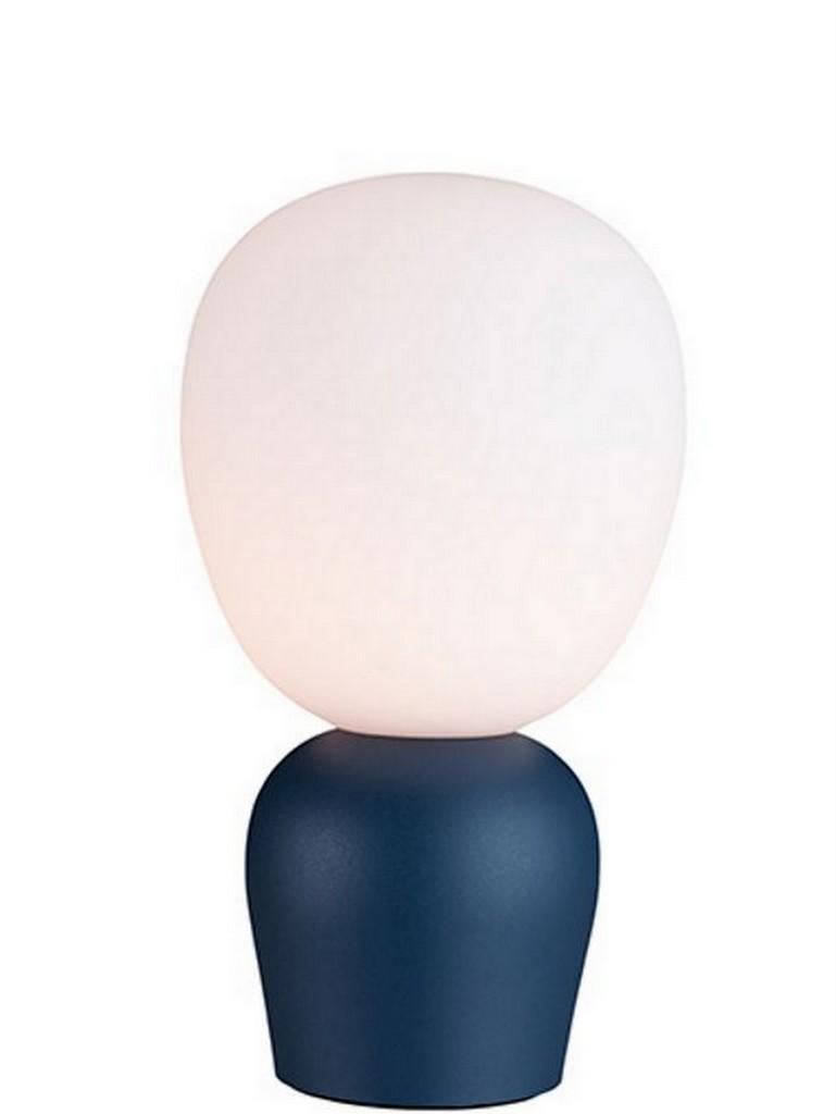 lampe sculpture bleue