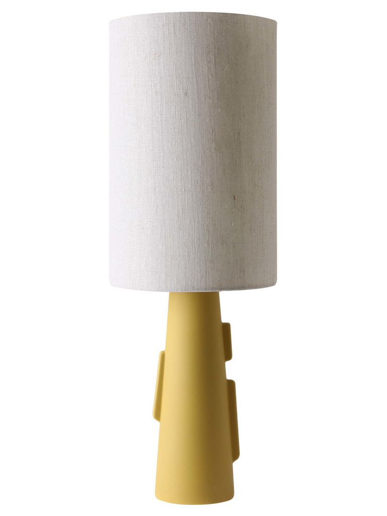 lampe sculpture céramique jaune