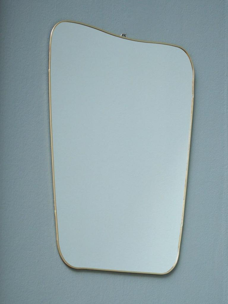 miroir organique laiton