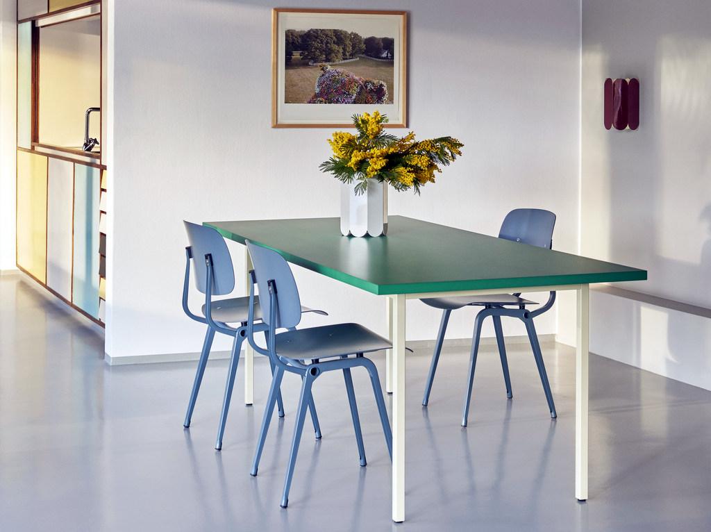 salle à manger table verte