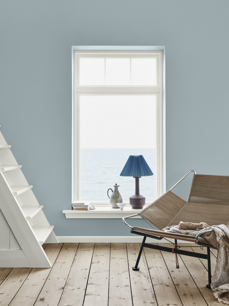 salon mur bleu ciel