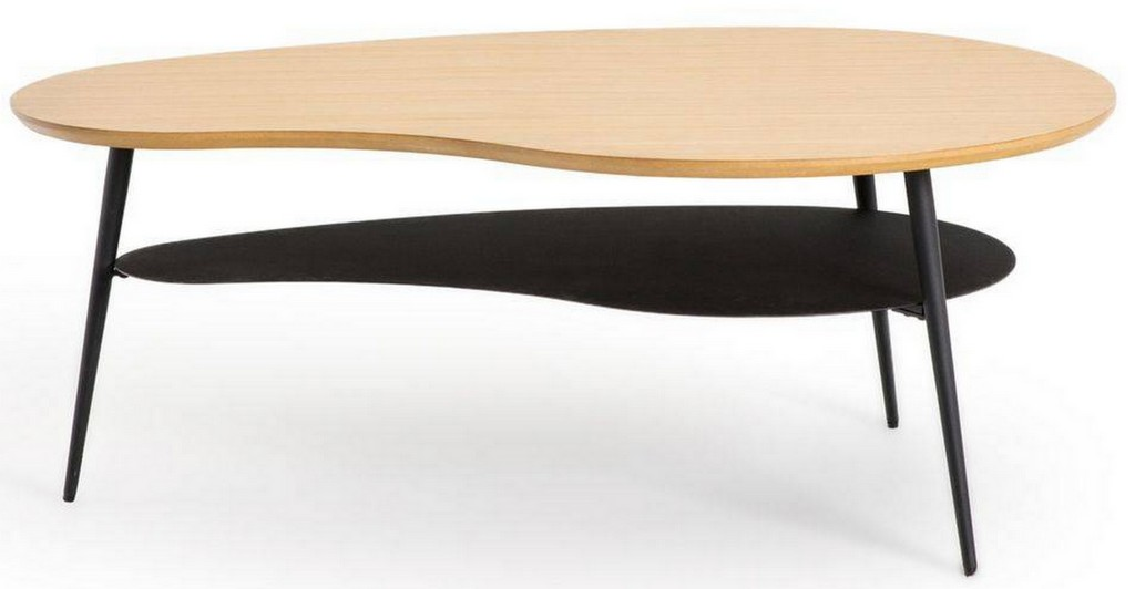 table basse forme organique