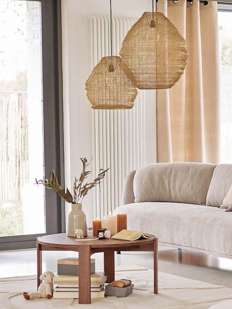 table basse ronde bois design