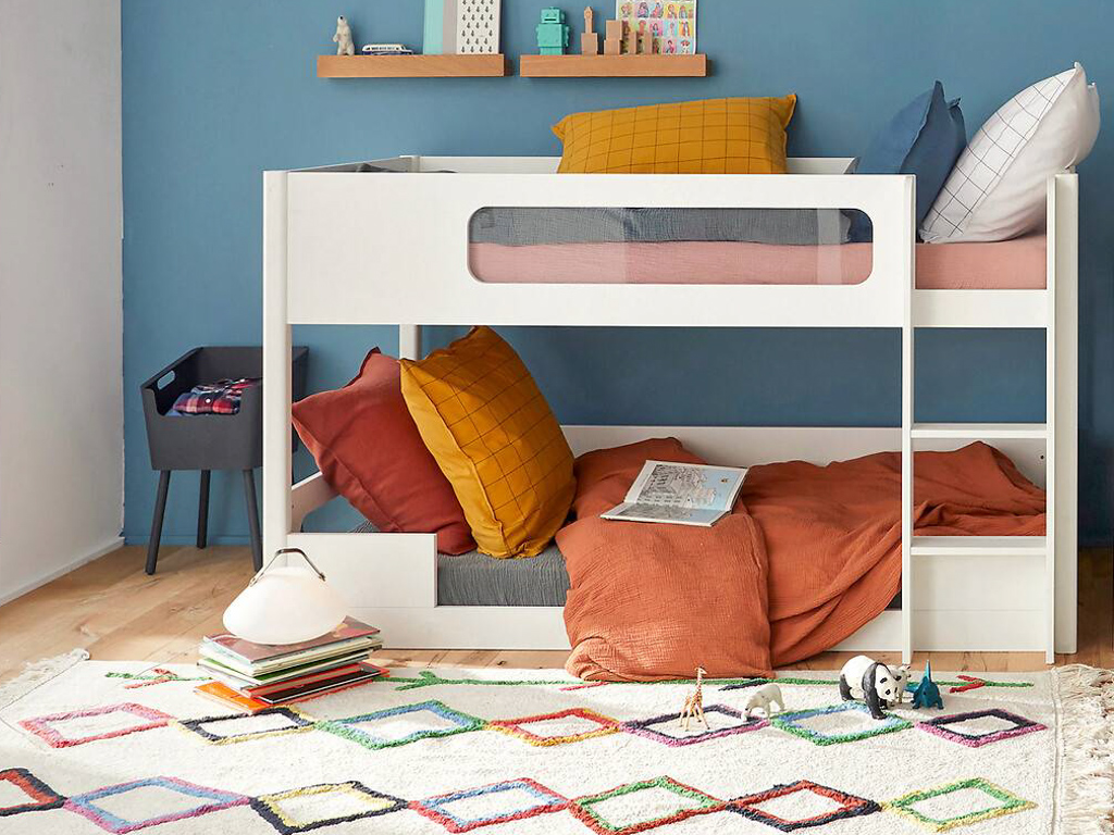 chambre enfant mur bleu