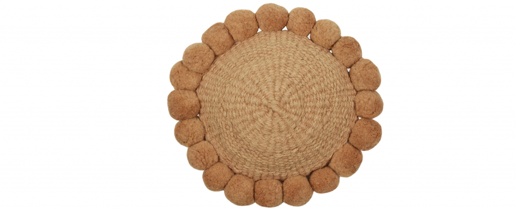 coussin rond terracotta