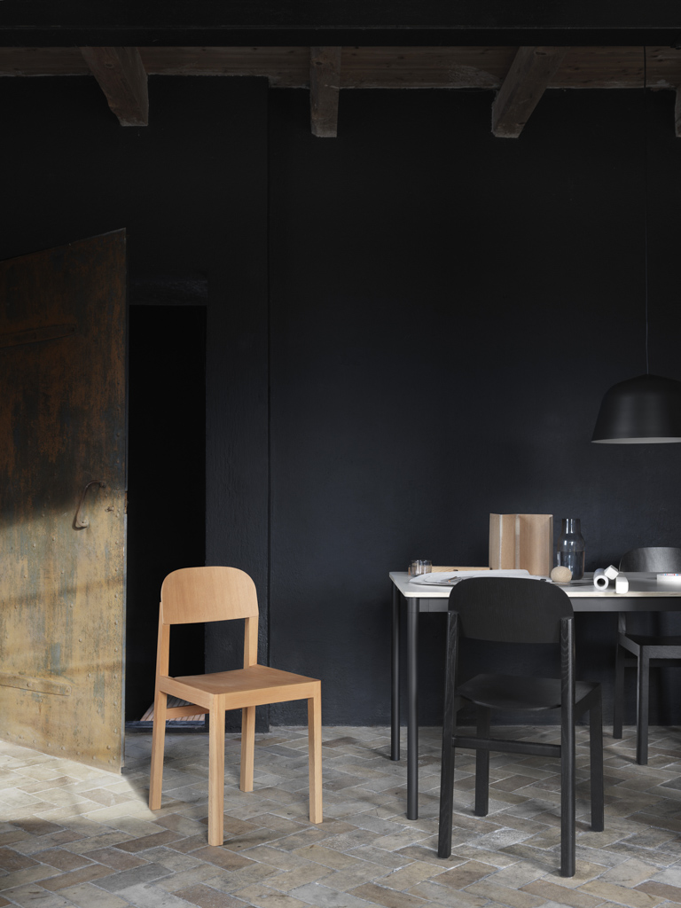 mur noir salle à manger
