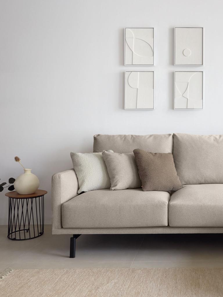tableau relief blanc