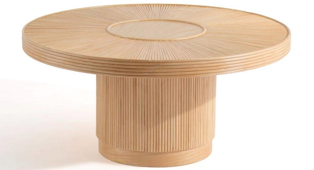 table basse ronde en rotin